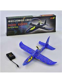 Самолёт с электромотором С 34389 (128) аккумулятор, 3 цвета, в коробке [74579]