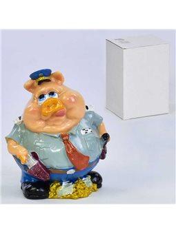 Сувенир C 30129 Свинья-копилка (48) 1шт в коробке, керамическая, в коробке [70143]