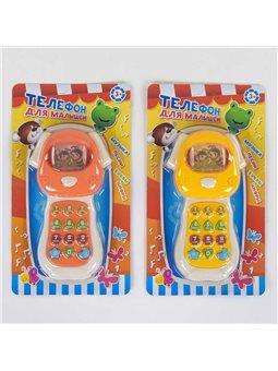 Телефон W 011 (96/2) световые и звуковые эффекты, русская озвучка, 2 цвета, на листе [80430]