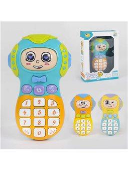 Телефон музыкальный 855-39 А (120) 3 цвета, свет, звук, в коробке [79346]