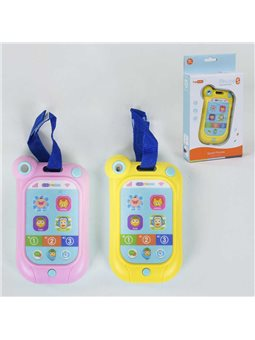 Телефон музыкальный YB 11686 (120/2) сенсорный экран, мелодии, подсветка, 2 цвета, в коробке [78586]