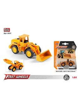"""Трактор """"Фронтальный Погрузчик"""" 6537 (216) Play Smart, металлопластик, на листе [80710]"""