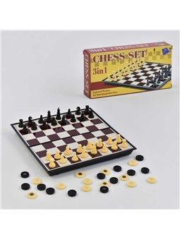 Шахматы 3108 (144/2) 2 в1, шашки, магнитные, в коробке [74339]