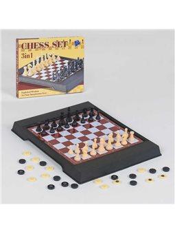 Шахматы 3608 (144/2) 2 в 1, магнитные, в коробке [79910]