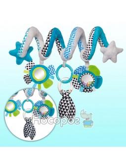 Игрушка мягкая спираль голубая Canpol babies к кроватке/коляске Zig Zag