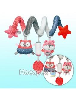 Игрушка Canpol babies мягкая спираль к кроватке/коляске Pastel Friends коралловая