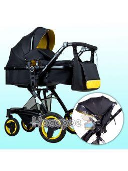 Универсальная детская коляска Ninos BONO желто-черная
