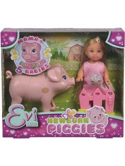 5733337 Ляльковий набір Еві Вагітна свинка з поросятами, 3+ .