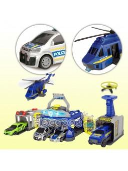 Игровой набор Управление полиции с 4 машинами и вертолетом
