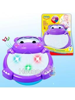 Детская игрушка светомузыкальный барабан Бегемотик 58156