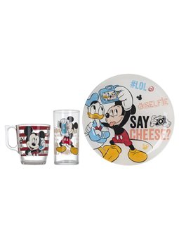 Набор детский LUMINARC DISNEY PARTY MICKEY, 3 предмета [L4871]