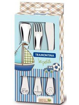 Дитячий набір столових приладів Tramontina BABY Le Petit блакитний, 3 предмети [66973/000]