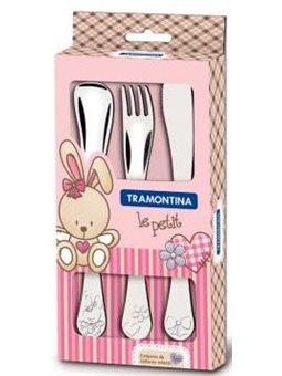 Набір столових приборів Tramontina BABY Le Petit pink X3 предмета [66973/005]