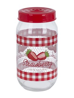 Банка HEREVIN Strawberry, 1.0 л [171541-058]