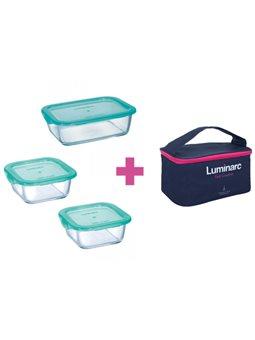 Набор контейнеров с сумкой LUMINARC KEEP'N BOX, 3 шт. [P8001]