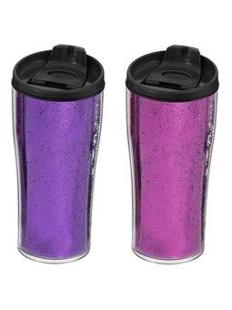 Термокружка HEREVIN Pink&Purple Glitter Powder MIX [161483-014]