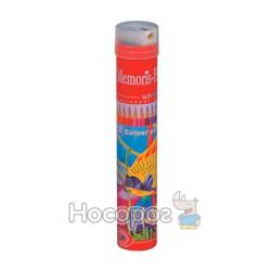 Карандаши цветные Memoris MF16414 с точилкой 12 цветов