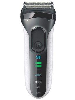 Электробритва Braun Series 3 3040TS White+Чехол+Гель [81645085]