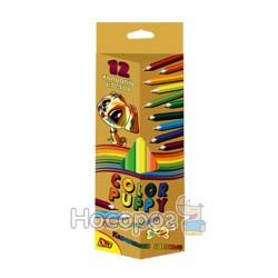 Карандаши цветные OLLI 0L-195-12 Jumbo Colour Puppy 12 цветов