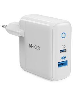 мережева зарядка ANKER PowerPort PD+ 2 - 33W 1xPD & 1xPIQ 2.0 (білий)