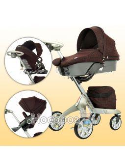 Универсальная детская коляска DSLAND Xplory V6 DarkRed