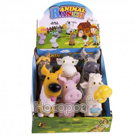 Резиновая игрушка LT 315 (6 домашних животных, пикают) (360)