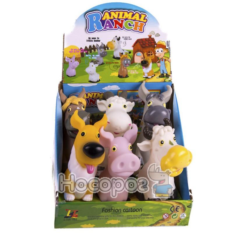 Фото Резиновая игрушка LT 315 (6 домашних животных, пикают) (360)