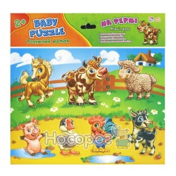 "Baby-puzzle - Умный малыш На ферме ""Ранок"" (укр.)"