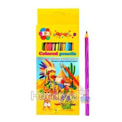 Олівці кольорові 7204 Мультяшки 12 кольорів