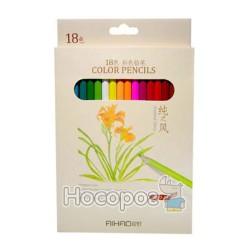 Карандаши цветные 18 цветов AIHAO 9015-18