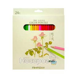 Карандаши цветные AIHAO 24 цвета 9015-24