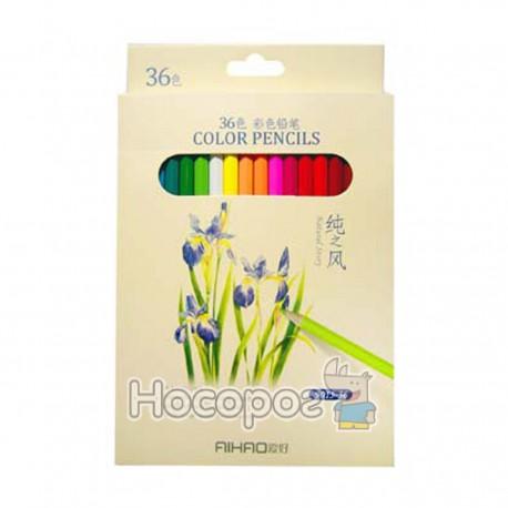 Карндаши цветные AIHAO 9015-36