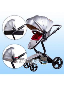 Детская коляска Ninos А88 серебряная