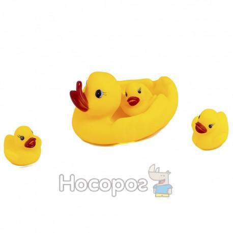 Резиновая игрушка 509 (утка с 3 утятами, 15 * 13 см) (144)