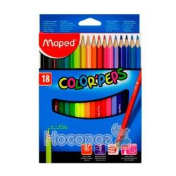 Карандаши цветные Maped Color Peps 18 цветов
