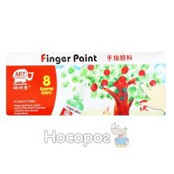 Фарба пальчикова 8 кольорів RFC0830