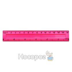 Линейка пластиковая цветная 15 см TZ-380