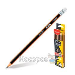Карандаши графитные с ластиком Maped Black Peps FR85172101