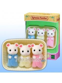 Игровой набор Белоснежные Мышата-тройняшки 5337