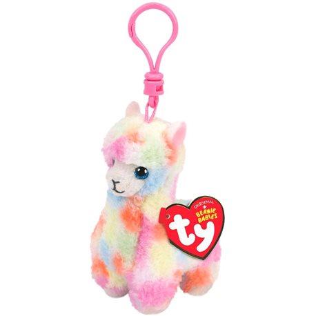Фото TY-Мягкая игрушка Разноцветная лама Lola 12см [36601]
