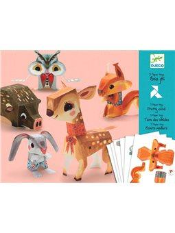 Djeco-Художественный комплект оригами Лесные животные [DJ09674]