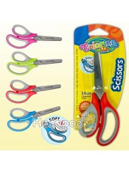 Ножницы Colorino с резиновыми ручками 37305PTR