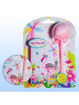 Блокнот детский Фламинго розовый и ручка-пушок BP64-1853
