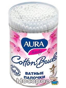 Палички ватні 100 шт. стакан AURA Beauty (2079)