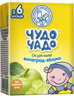 Чудо-Чадо 27234 сік 200мл виноград-яблуко