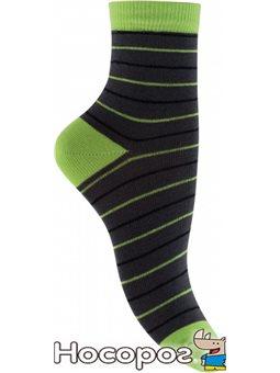 Носки детские 9215 р.22-24 т-серый-салатовый