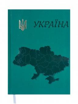 Щоденник недатований UKRAINE, A5, 288 стр. Зелений BM.2021-04