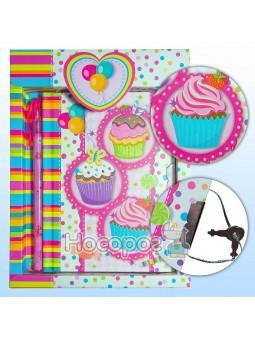 Блокнот детский на замочке в подарочной упаковке с ручкой 640610-A