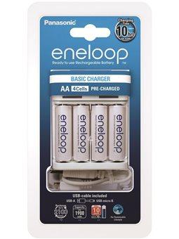 Зарядний пристрій Panasonic Basic USB Charger+eneloop 4AA 1900 mAh [K-KJ61MCC40USB]