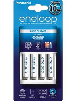 Зарядний пристрій Basic Charger New + Eneloop 4AAA 750 mAh NI-MH [K-KJ51MCC04E]